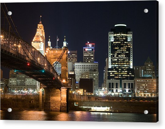 Cincinnati At Dusk Acrylic Print