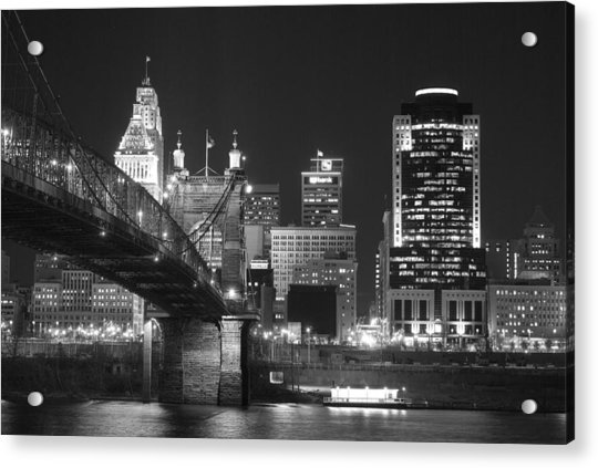 Cincinnati At Night Acrylic Print