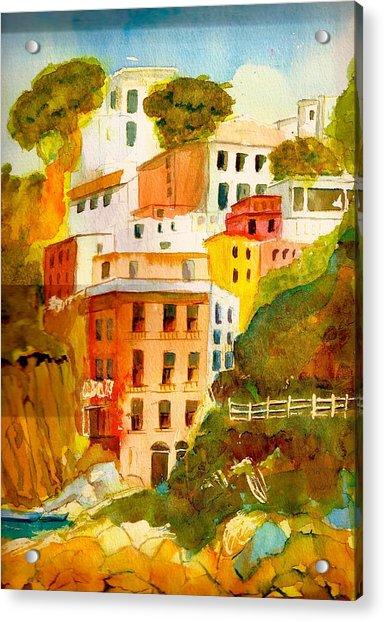 Cinque Terre Acrylic Print by KC Winters