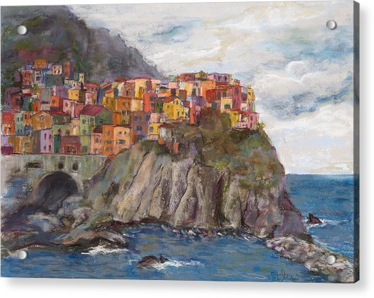 Cinque Terre Painting By Patricia Maguire