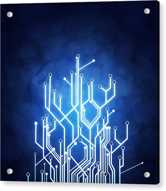 Circuit Board Technology Acrylic Print