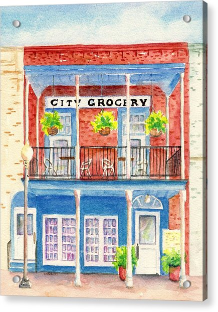 City Grocery Oxford Mississippi  Acrylic Print