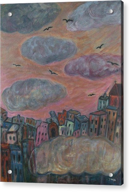 City Of Clouds Acrylic Print