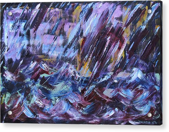City Storm Abstract Acrylic Print