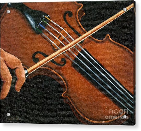 Classic Violin Acrylic Print by Linda Apple