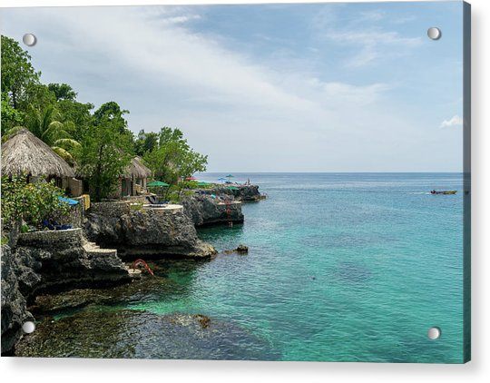 The Cliffs Of Negril Acrylic Print