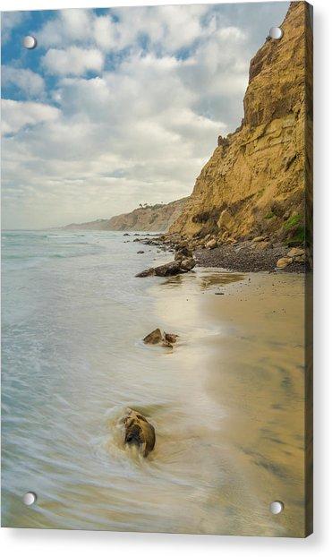 Cliffside Acrylic Print by Joseph Smith