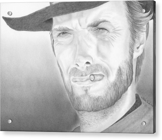 Clint Acrylic Print by Christopher Brooks