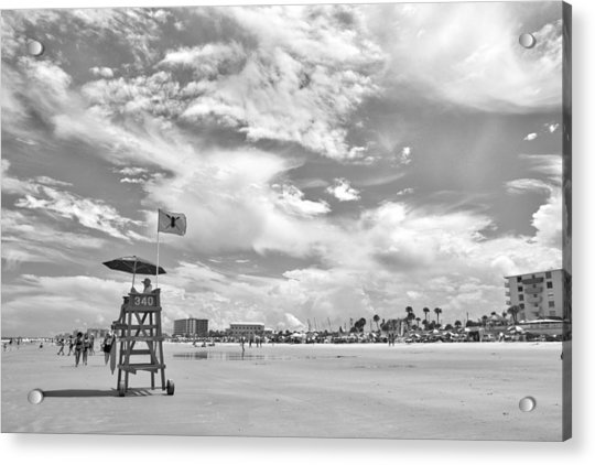 Acrylic Print featuring the photograph Clouds On The Beach by Alice Gipson