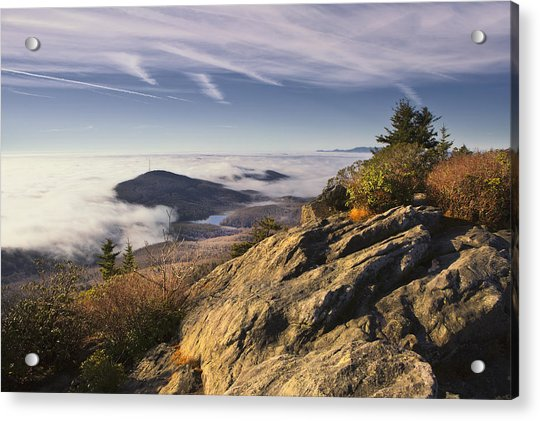 Clouds Over Grandmother Mountain Acrylic Print