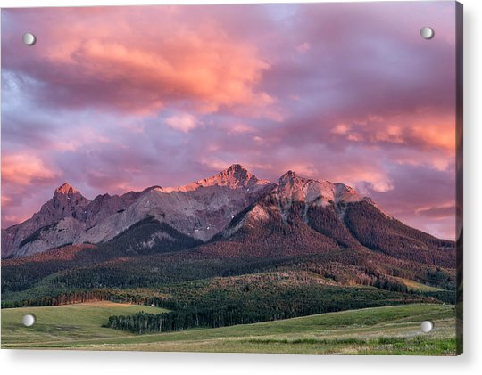 Clouds Over Hayden At Sunset Acrylic Print
