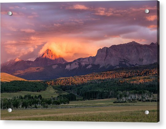 Clouds Over Sneffels At Sunset Acrylic Print
