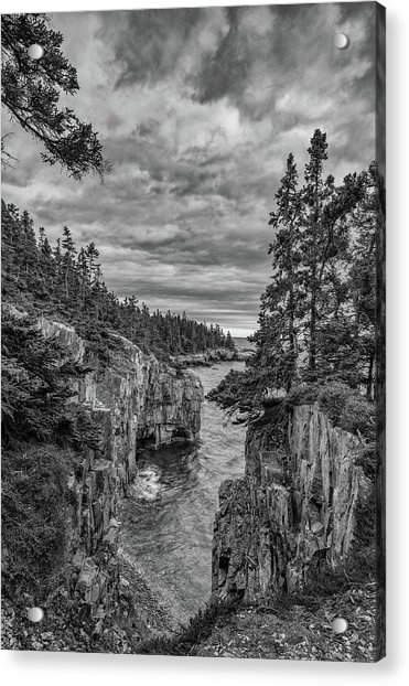 Clouds Over The Cliffs Acrylic Print