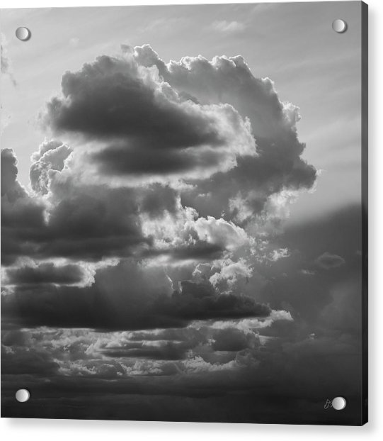 Cloudscape Xv Bw Sq Acrylic Print