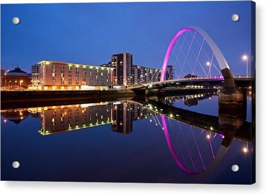 Clyde Arc Glasgow Acrylic Print