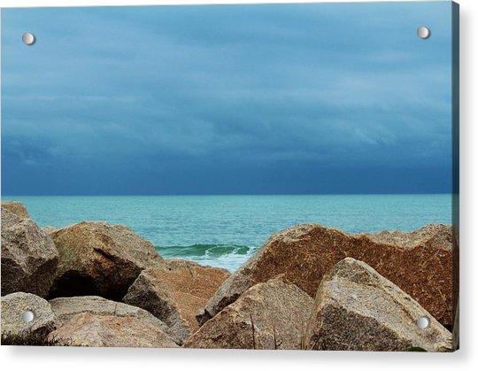 Acrylic Print featuring the photograph Coastal Blues by Cynthia Guinn