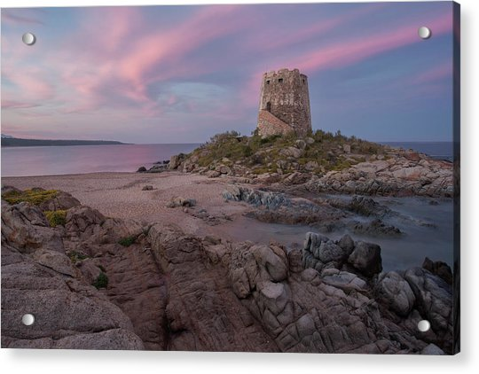 Coastal Tower At Sunset Acrylic Print