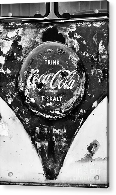 Coca Cola Vw Split Screen Monochrome Acrylic Print