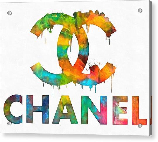 Coco Chanel Paint Splatter Color Acrylic Print
