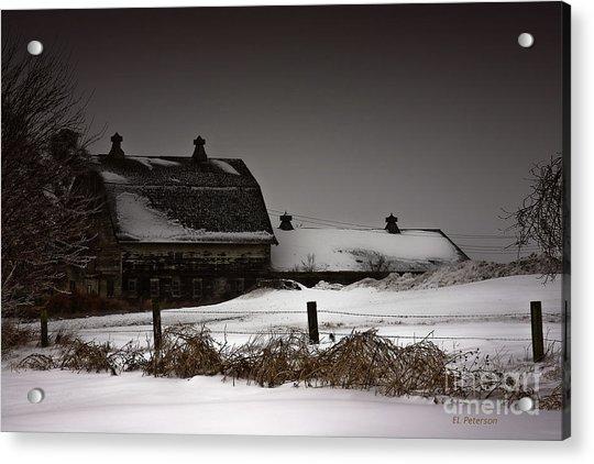 Cold Winter Night Acrylic Print