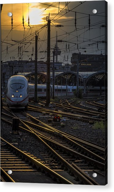 Cologne Central Station Acrylic Print