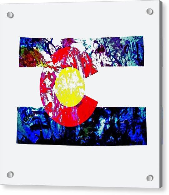 Colorado Paint Splatter Acrylic Print