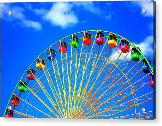 Acrylic Print featuring the photograph Colorful Ferris Wheel by Cynthia Guinn