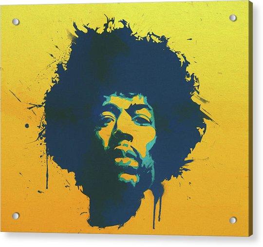 Colorful Hendrix Pop Art Acrylic Print