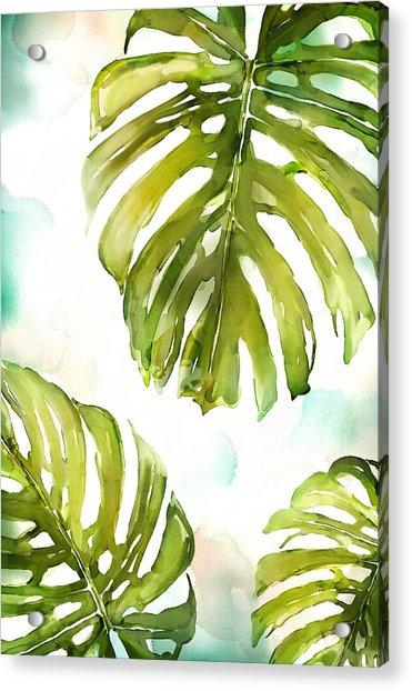 Colorful Palm Acrylic Print
