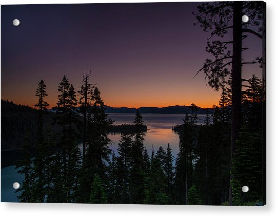 Colorful Sunrise In Emerald Bay Acrylic Print