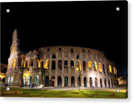 Colosseum Acrylic Print by Nikos Stavrakas