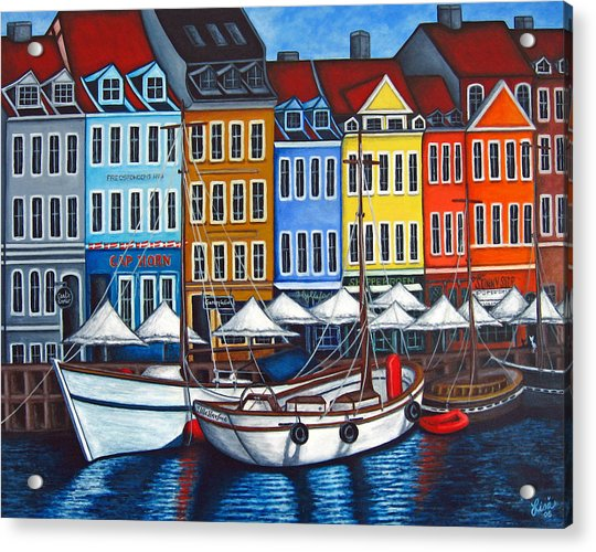 Colours Of Nyhavn Acrylic Print