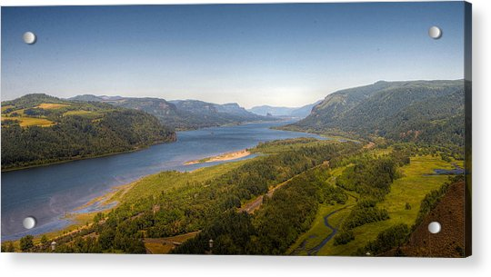 Columbia River Gorge  Acrylic Print by Drew Castelhano