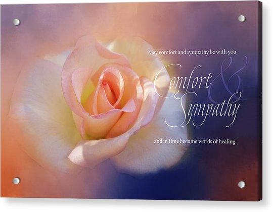Comfort And Sympathy Acrylic Print