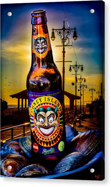 Acrylic Print featuring the photograph Coney Island Beer by Chris Lord