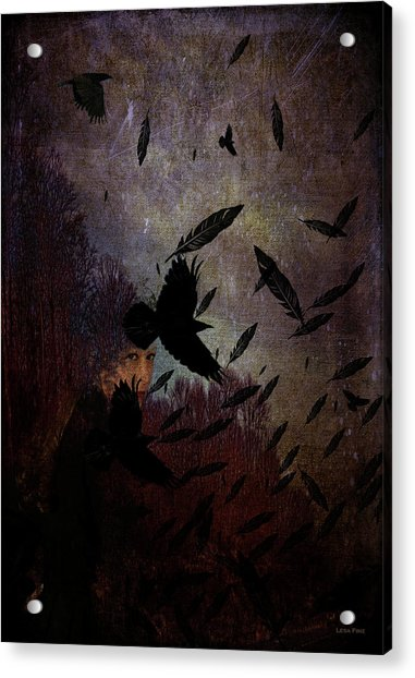 Conflict Of The Crows Acrylic Print