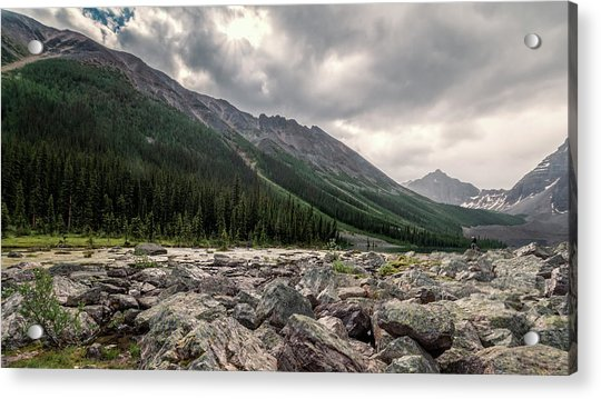 Consolation Lakes And Boulders Acrylic Print