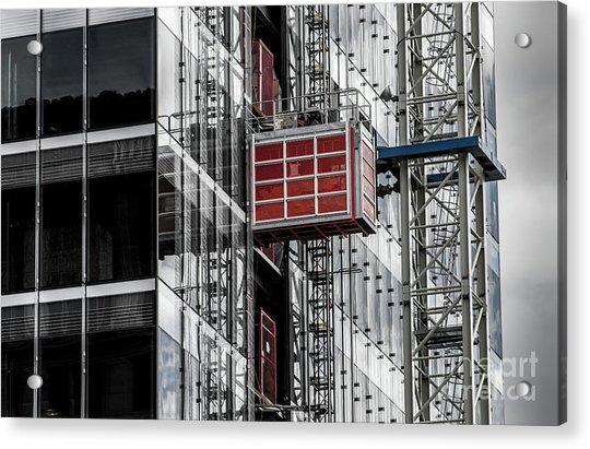 Construction Season Begins - Skyscraper - Utah Acrylic Print