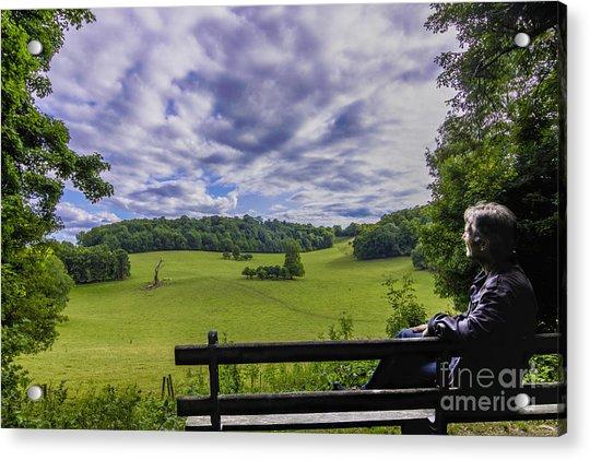 Contemplating The Beautiful Scenery Acrylic Print