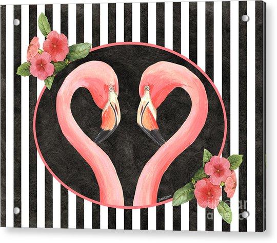 Contemporary Flamingos 1 Acrylic Print