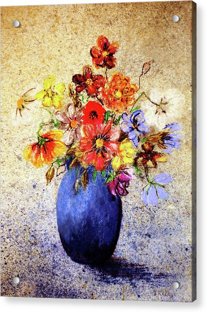Acrylic Print featuring the painting Cornucopia-still Life Painting By V.kelly by Valerie Anne Kelly