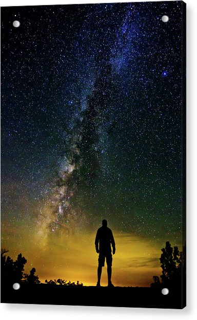 Cosmic Contemplation Acrylic Print