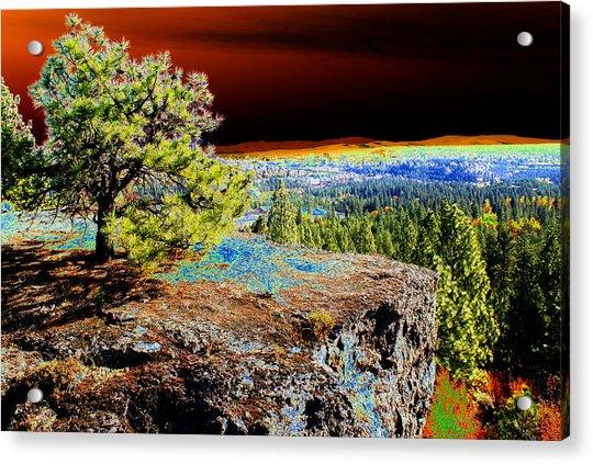 Cosmic Spokane Rimrock Acrylic Print