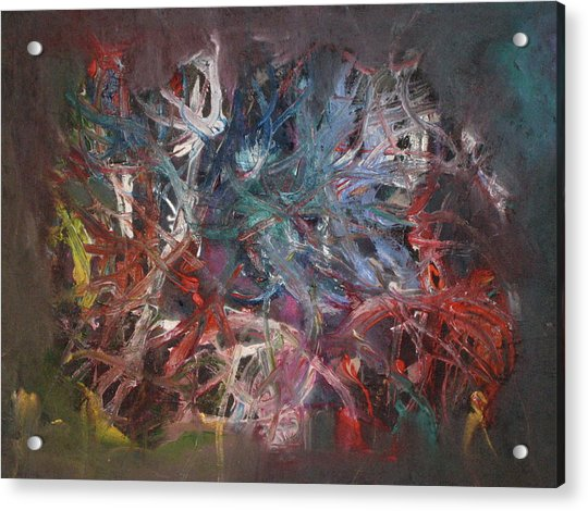 Acrylic Print featuring the painting Cosmic Web by Michael Lucarelli