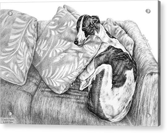 Couch Potato Greyhound Dog Print Acrylic Print