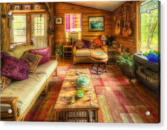 Country Cabin Acrylic Print