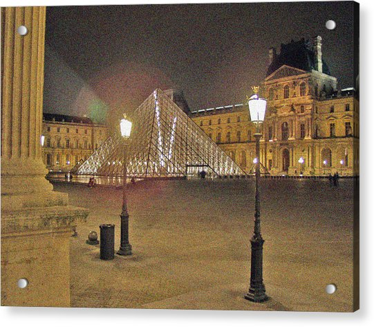 Courtyard At The Louvre Acrylic Print