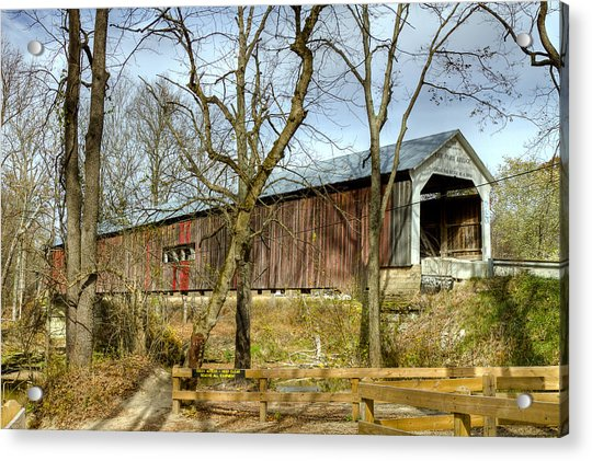 Cox Ford Covered Bridge Acrylic Print