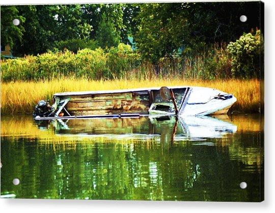 Crab Boat Retired Acrylic Print