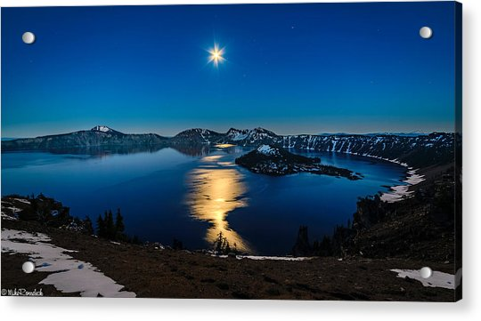 Crater Lake Moonlight Acrylic Print